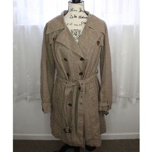 Merona plaid trench coat